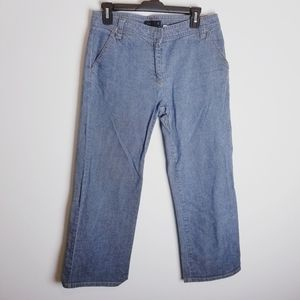 J. Crew straight leg cropped ankle jeans size 6